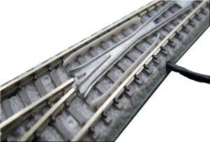 Weiche mit elektromagnetischem Antrieb, links, R490, 13°, 110mm <br/>Rokuhan 7297039