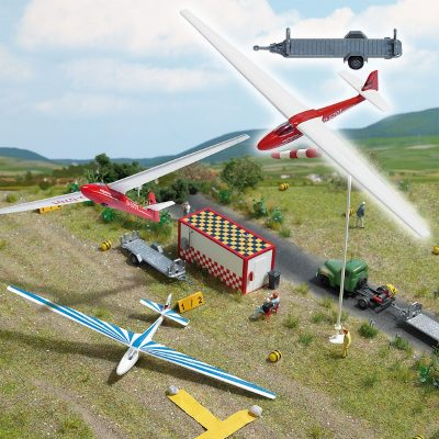 Segelflugzeug mit Anhänger <br/>BUSCH 1154