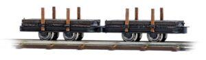 Zwei Plattform-Rungenwagen <br/>BUSCH 12210