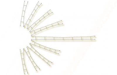 Fahrdrahtstück 163,5 mm, 5 Stück <br/>Viessmann 4137