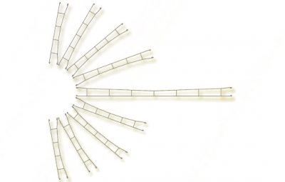 Fahrdrahtstück 360 mm, 3 Stück <br/>Viessmann 4143