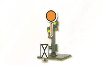 Form-Vorsignal, Scheibe starr, Flügel beweglich <br/>Viessmann 4407