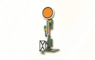 Form-Vorsignal, Scheibe starr, Flügel beweglich <br/>Viessmann 4510
