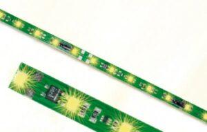 Waggon-Innenbeleuchtung 8 LEDs gelb <br/>Viessmann 5091