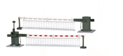 Bahnschranke mit Behang, 5104 gespiegelt <br/>Viessmann 5107