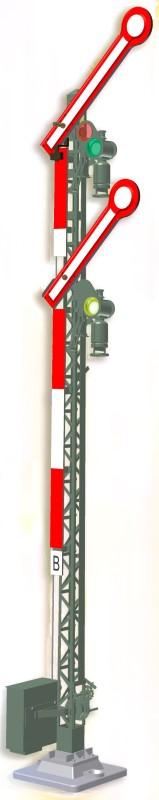 Form-Hauptsignal, 2-flügelig, gekoppelt <br/>Viessmann 9501
