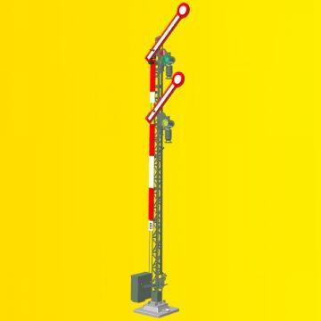 Form-Hauptsignal, 2-flügelig, gekoppelt <br/>Viessmann 9501 2