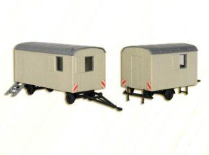 Bauwagen, 2 Stück <br/>kibri 10278