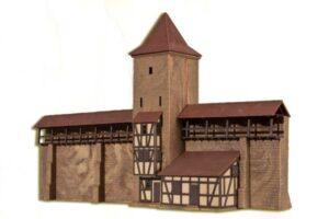Wehrturm mit Mauer in Rothe <br/>kibri 37108