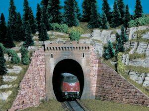 Tunnel-Portal, 1-gleisig, 2 <br/>Vollmer 47811