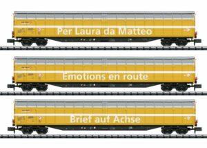 Güterwagen-Set der Post SBB <br/>TRIX 15874