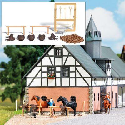 Reiterhof Ausgestaltung H0    <br/>BUSCH 1027