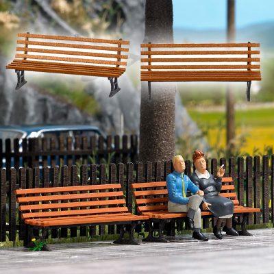Sitzbänke, 2 Stück <br/>BUSCH 10300
