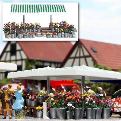Marktstand »Blumen« <br/>BUSCH 1072