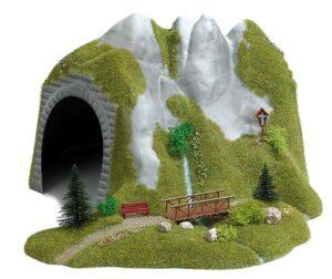 Tunnel mit Bach und Holzsteg <br/>BUSCH 3016