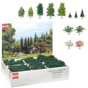 Bäume, Großpackung, 204 Stück <br/>BUSCH 6333