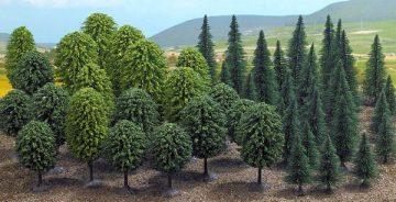 Bäume, Mischwald, »Mega-Spar-Set«, 50 Stück <br/>BUSCH 6591 1