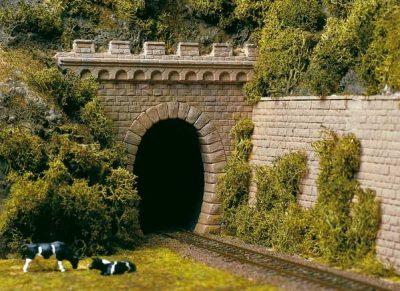 Tunnel-Portale, 1-gleisig <br/>Auhagen 11342