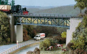 Brücke, Fachwerkbrücke <br/>Auhagen 11364 1