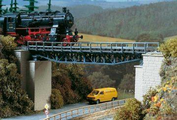 Brücke, Fachwerkbrücke <br/>Auhagen 11365 1