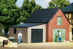 Lagerschuppen mit Garage  <br/>Auhagen 11408