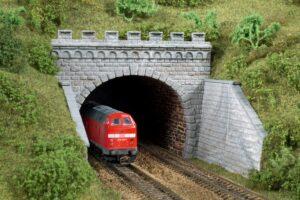 Tunnel-Portale, 2-gleisig <br/>Auhagen 13277