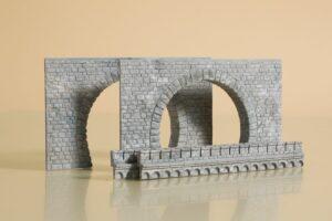 Tunnel-Portale, 2-gleisig <br/>Auhagen 41587