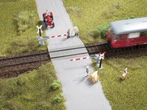 Bahnübergang, Halbschranke <br/>Auhagen 41625