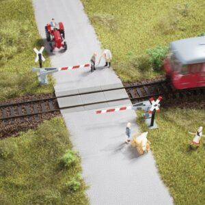 Bahnübergang, Halbschranke Auhagen 41625