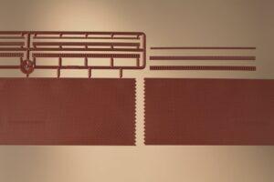 Ziegelmauern mit Zahnfriesvarianten <br/>Auhagen 43658