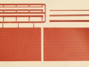 Ziegelmauern mit Zahnfriesvarianten <br/>Auhagen 44630