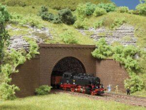 Tunnel-Portale, 2-gleisig <br/>Auhagen 44636