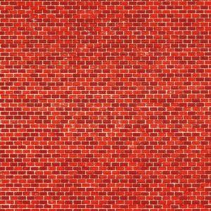 Dekorpappen Ziegelmauer rot <br/>Auhagen 50104