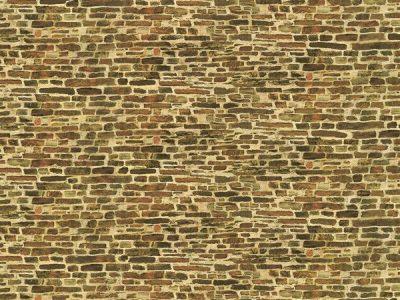 Dekorpappen Kalksteinmauer klein <br/>Auhagen 50116