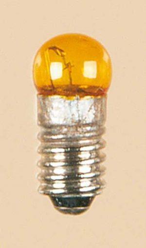 Lampe mit Schraubsockel gelb lose Kugel, 1 Stück <br/>Auhagen 56783