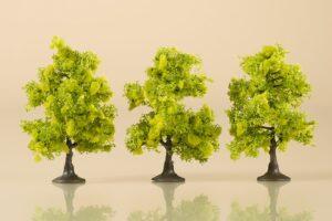 Laubbäume hellgrün 7 cm <br/>Auhagen 70935