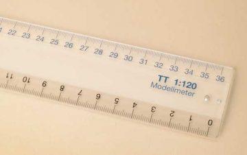 Maßstabslineal TT  <br/>Auhagen 99005 1