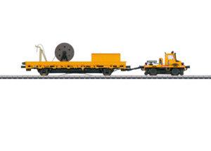 Märklin 39940 <br/>Zweiwege-Unimog mit Fahrleitungsbauwagen