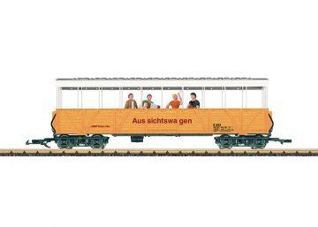 LGB 33353 <br/>Offener Güterwagen mit Band RhB 1