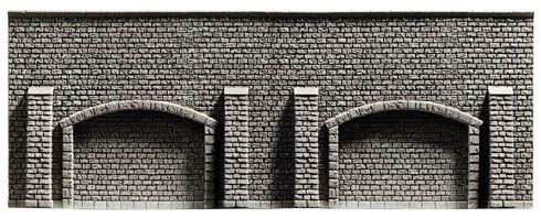 NOCH 34859 <br/>Arkadenmauer, extra lang, 39,6 x 7,4 cm