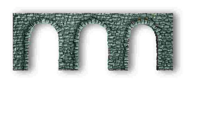 NOCH 34942 <br/>Arkadenmauer, offen, 19 x 9 cm