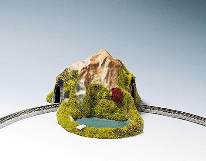 NOCH 44670 <br/>Tunnel, 1-gleisig, gebogen, 17 x 13 cm
