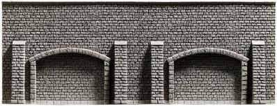 NOCH 48059 <br/>Arkadenmauer, extra-lang, 51,6 x 9,8 cm