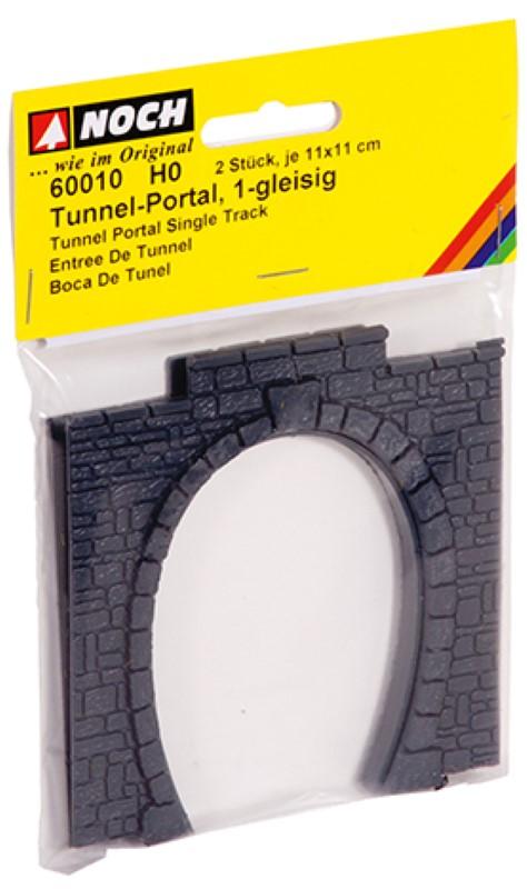 NOCH 60010 <br/>Tunnel-Portal, 1-gleisig, 11 x 11 cm