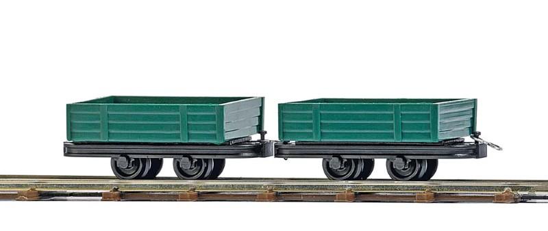 BUSCH 12206 <br/>Niederbordwagen, 2 Stück