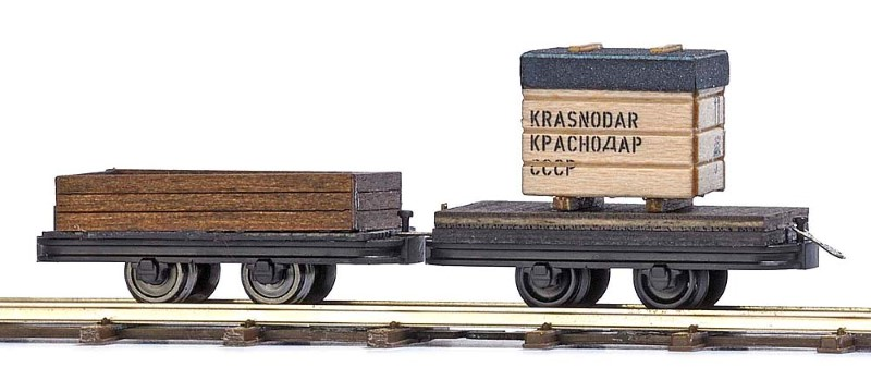 BUSCH 12207 <br/>Transportwagen, 2 Stück