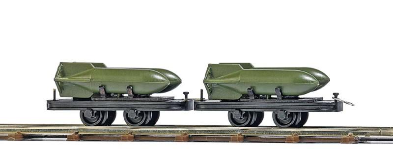 BUSCH 12209 <br/>Wagen mit Bombenladung, 2 Stück 1