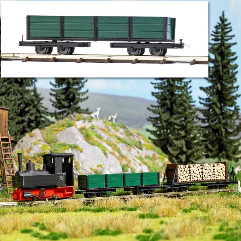 BUSCH 12246 <br/>Drehgestell-Niederbordwagen