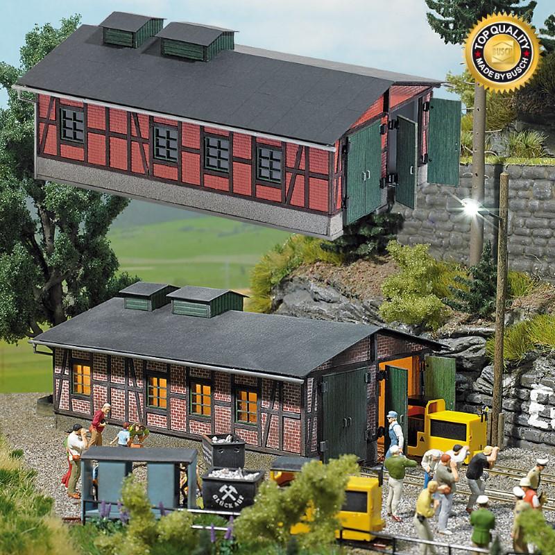 BUSCH 1475 <br/>Lokschuppen für Grubenbahnen