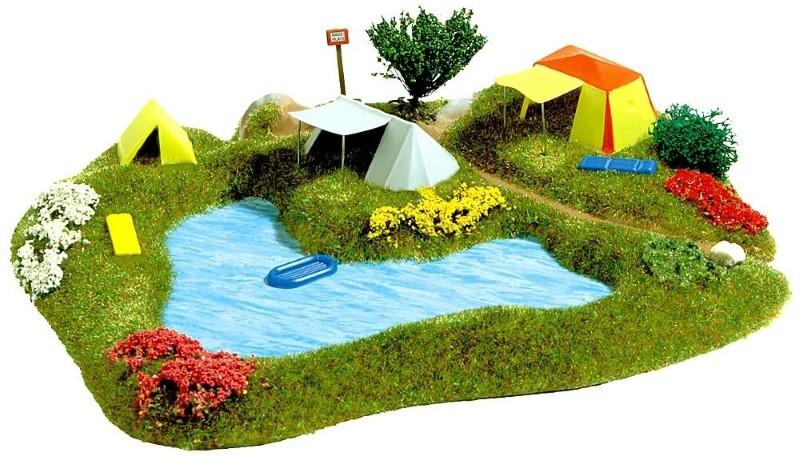 BUSCH 3108 <br/>Badesee mit Campingplatz